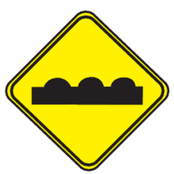 Traffic sign of Uruguay: Warning for a bad road surface