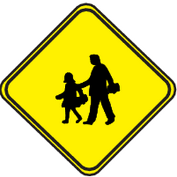 Traffic sign of Uruguay: Warning for children
