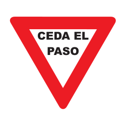 Traffic sign of Uruguay: Give way to all drivers