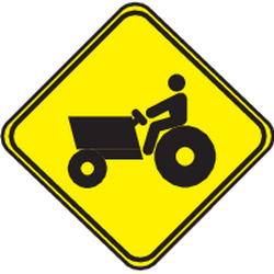 Traffic sign of Uruguay: Warning for tractors