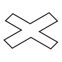 Traffic sign of Uruguay: Warning for a railroad crossing with 1 railway